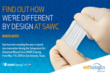 MTF Biologics to Highlight Wound Care Innovations at Symposium on Advanced Wound Care Spring